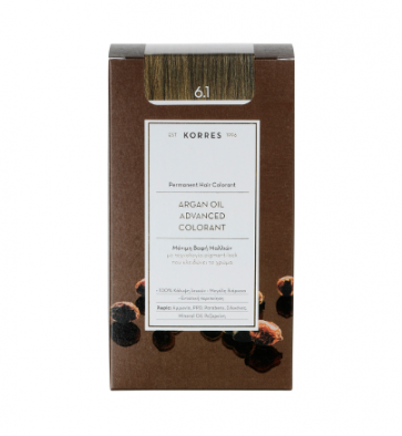 Korres Argan Oil Advanced Colorant 6.1 Ξανθό Σκούρο Σαντρέ by Korres