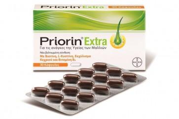 Priorin Extra Νέα Βελτιωμένη Σύνθεση 30 κάψουλες by Bayer