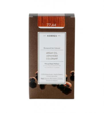 Korres Argan Oil Advanced Colorant 77.44 Ξανθό Έντονο Χάλκινο by Korres