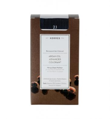 Korres Argan Oil Advanced Colorant 2.1 Μαύρο Μπλε by Korres
