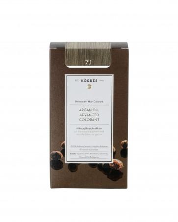 Korres Argan Oil Advanced Colorant 7.1 Ξανθό Σαντρέ by Korres