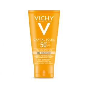 Vichy Capital Soleil Αντηλιακή Κρέμα Προσώπου Με Χρώμα Και Βελούδινη Υφή SPF50