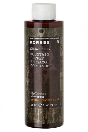 Korres Showergel Mountain Pepper Bergamot Coriander by Korres