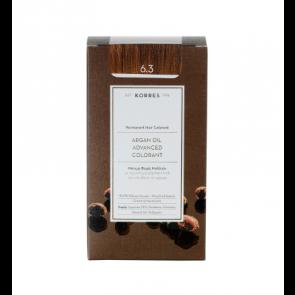 Korres Argan Oil Advanced Colorant 6.3 Ξανθό Σκούρο Χρυσό/Μελί