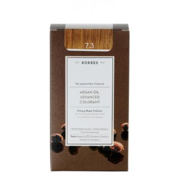 Korres Argan Oil Advanced Colorant 7.3 Ξανθό Χρυσό/Μελί by Korres