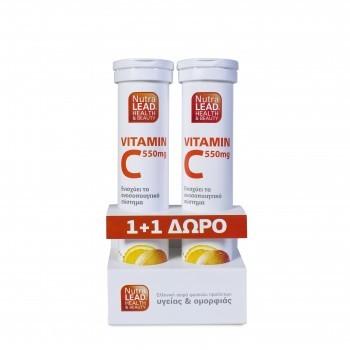 NutraLead Vitamin C 550mg + Δώρο Vitamin C 550mg by Vitorgan