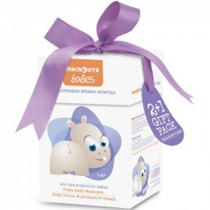 Macrovita Set Babies Foam Bath Shampoo 300ml- Body Lotion 150ml- Protective Cream 100ml