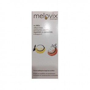 Melovix Για τον ερεθισμένο λαιμό και το βήχα με γεύση λεμόνι και φράουλα