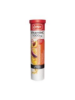 Lanes Vitamin C 1000mg με Κουρκουμά και Γεύση Μαρακούγια, Μάνγκο & Ροδάκινο by Lanes