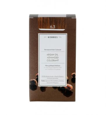 Korres Argan Oil Advanced Colorant 6.3 Ξανθό Σκούρο Χρυσό/Μελί by Korres