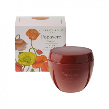 L'Erbolario Papavero Soave Body Cream 200ml by L'Erbolario