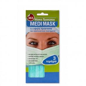 Medi Mask Μάσκες Προσώπου με Λάστιχο 3τμχ