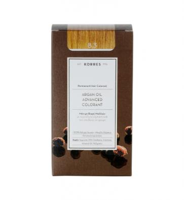 Korres Argan Oil Advanced Colorant 8.3 Ξανθό Ανοικτό Χρυσό/Μελί by Korres