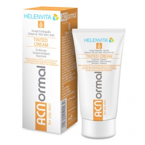 Helenvita ACNormal Tinted Cream, Κρέμα Προσώπου με Χρώμα για Λιπαρό Δέρμα με Ακμή