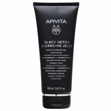 Apivita Black Detox Cleansing Jelly for Face & Eyes by Apivita