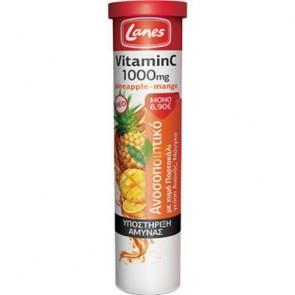 Lanes Vitamin C 1000mg με Χυμό Πορτοκάλι και γεύση Ανανά & Μάνγκο