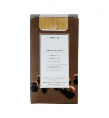 Korres Argan Oil Advanced Colorant 8.7 Καραμέλα by Korres