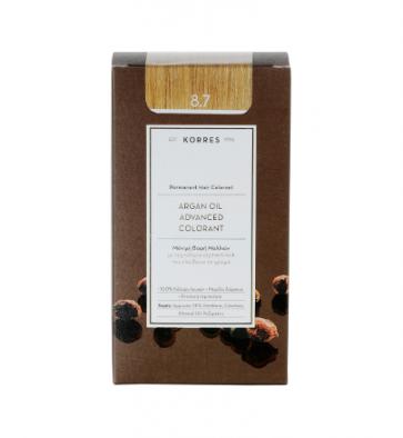 Korres Argan Oil Advanced Colorant 8.7 Καραμέλα by Korres