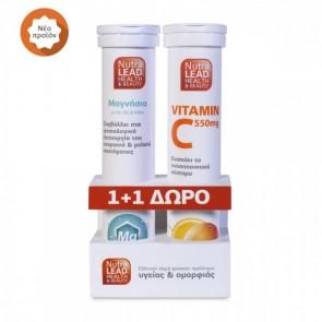 NutraLead Μαγνήσιο + Δώρο Vitamin C 550mg