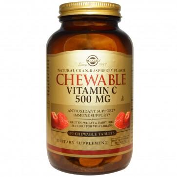 Solgar Chewable Vitamin C 500mg Raspberry by Solgar