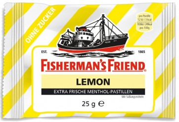 Fisherman's Friend Lemon Sugar Free by Fisherman's Friend
