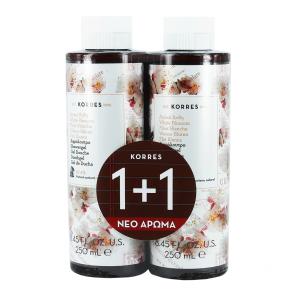Korres Αφρόλουτρο Λευκά Άνθη 250ml 1+1 Δώρο