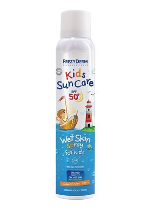 Frezyderm Kids Sun Care Wet Skin Spray SPF 50 by Frezyderm