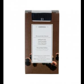 Korres Argan Oil Advanced Colorant 2.1 Μαύρο Μπλε