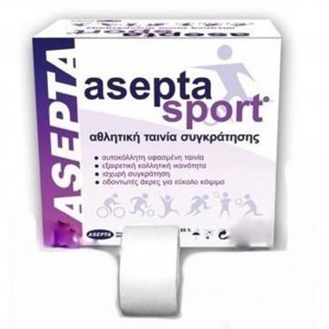 Asepta Sport Αθλητική Ταινία Συγκράτησης 3,75cm X 10m - Λευκή by Asepta
