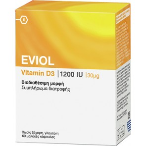 Eviol Vitamin D3 1200iu 30mcg
