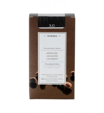 Korres Argan Oil Advanced Colorant 3.0 Καστανό Σκούρο by Korres