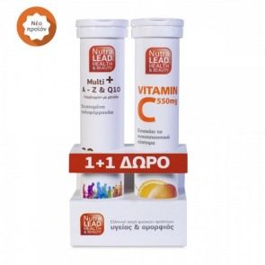 NutraLead Multi A-Z & Q10 + Δώρο Vitamin C 550mg