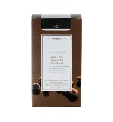 Korres Argan Oil Advanced Colorant 1.0 Μαύρο Φυσικό by Korres