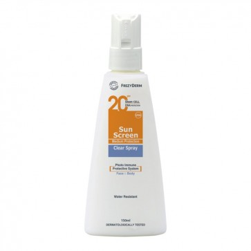 Frezyderm Sun Screen Clear Spray SPF20 by Frezyderm