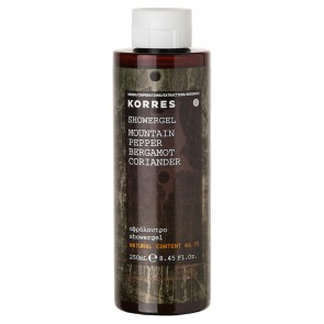 Korres Showergel Mountain Pepper Bergamot Coriander