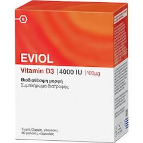Eviol Vitamin D3 4000iu 100mcg