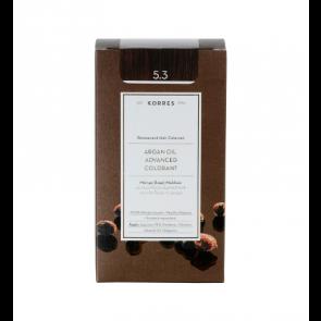 Korres Argan Oil Advanced Colorant 5.3 Καστανό Ανοικτό Χρυσό/Μελί