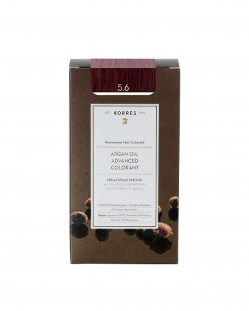 Korres Argan Oil Advanced Colorant 5.6 Καστανό Ανοικτό Κόκκινο by Korres